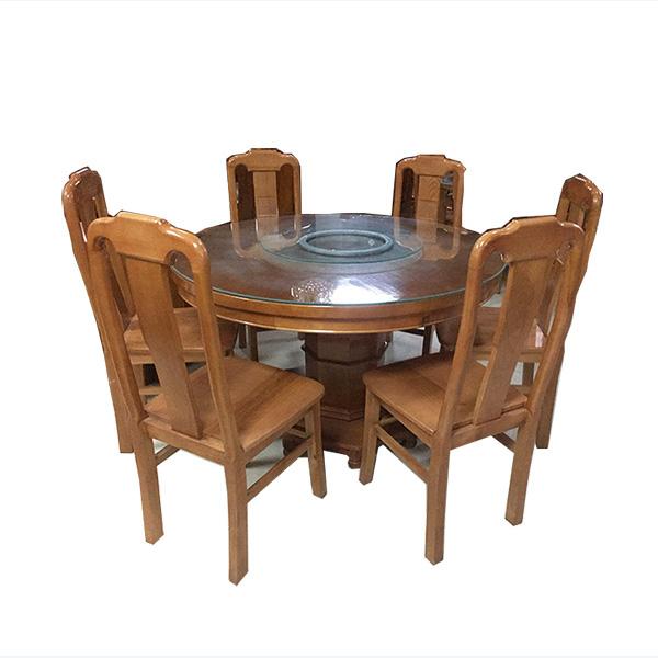Bộ bàn ăn tròn chân hộp 6 ghế 200BBA06