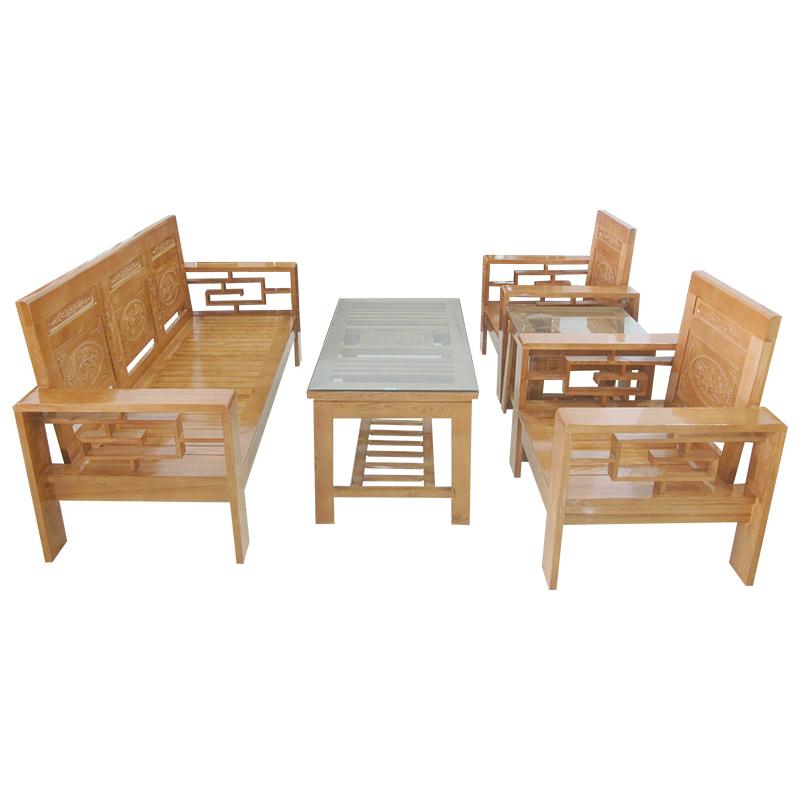 Bộ Salon gỗ Sồi 204SLG01