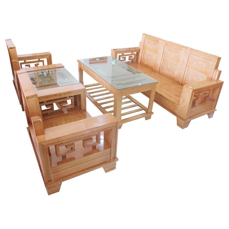 Bộ Salon gỗ Sồi 204SLG06