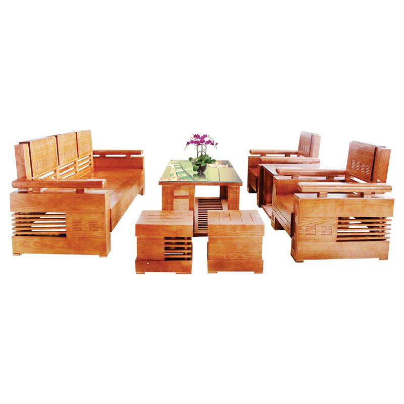 Bộ Salon gỗ Sồi 206SLG01