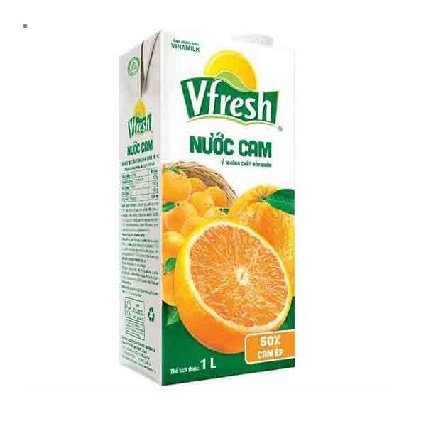 Nước cam ép Vfresh không đường VNM 1L