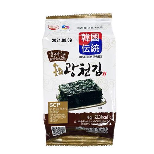 Rong biển ăn liền vị tỏi đen Hàn quốc 4g*3 gói/lốc