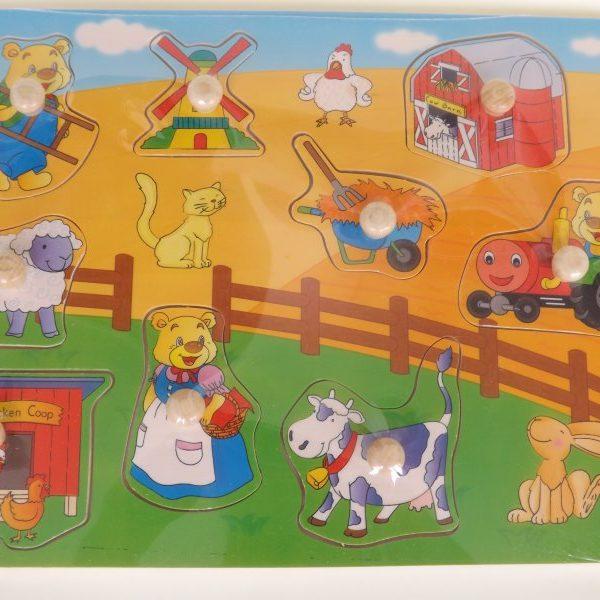 Bảng ghép hình nông trại HJ98162A