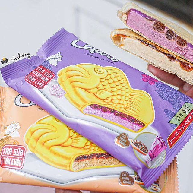 Kem bánh cá Celano Trà sữa Khoai môn