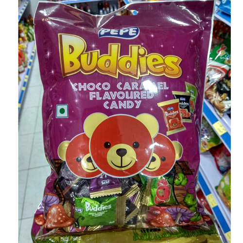 Kẹo Buddies choco caramal Pepe 230g