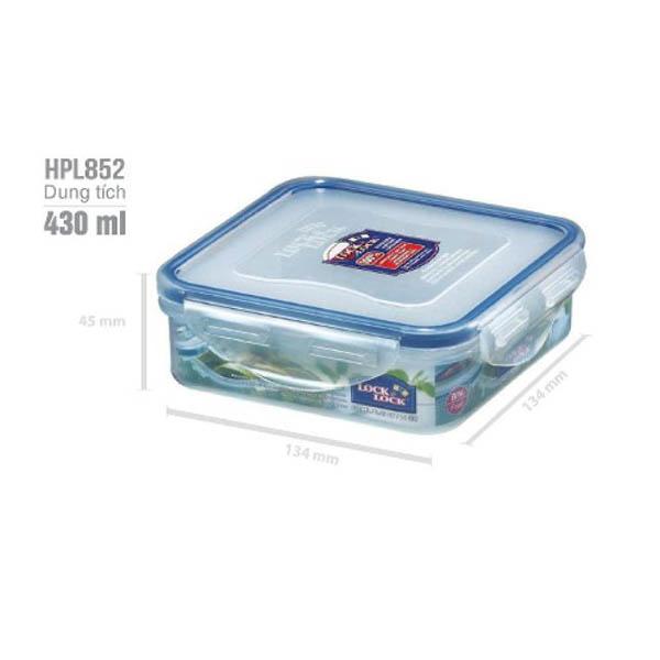Hộp đựng TP Vuông nhựa Lock&Lock 430ml HPL852