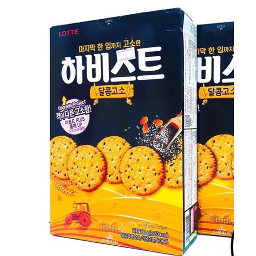 Bánh quy hạnh nhân vừng đen Lotte 300g