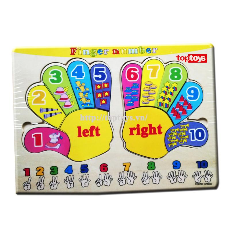Bảng học đếm 2 bàn tay HJ98019