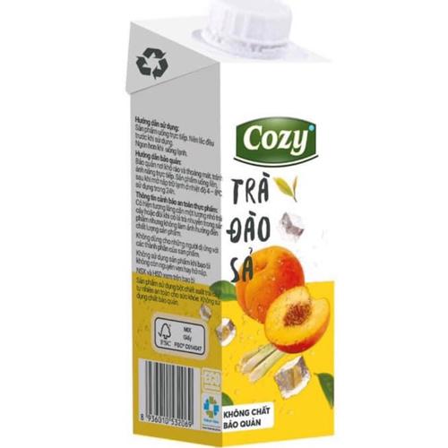 Trà Cozy đào sả 225ml