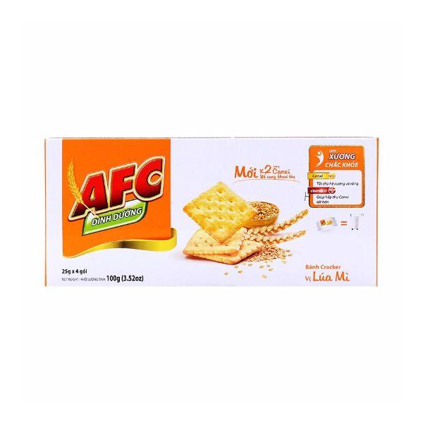 Bánh quy AFC vị lúa mì Kinh Đô hộp 100g