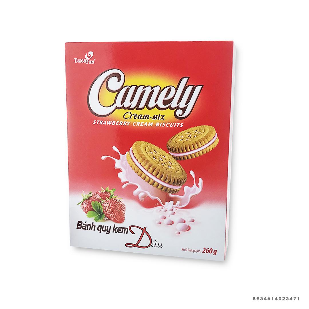 Bánh quy kem dâu Camely 260g