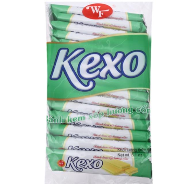 Bánh kem xốp Kexo vị cốm gói 145g