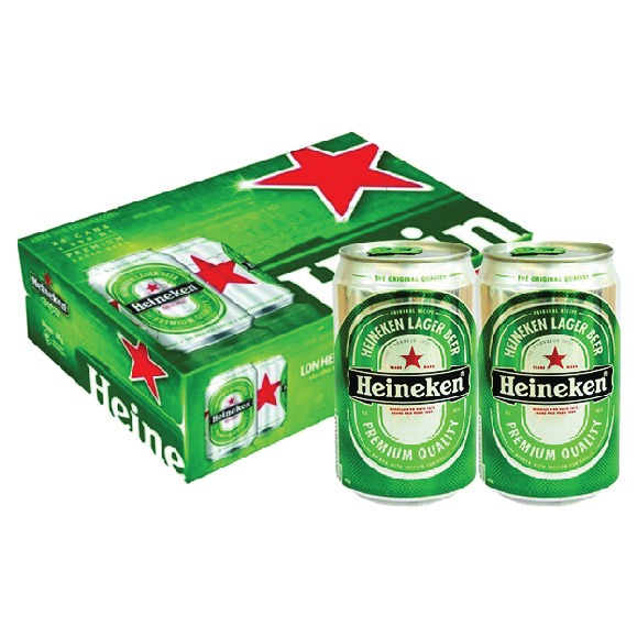 Thùng 24 lon bia Heineken 330ml