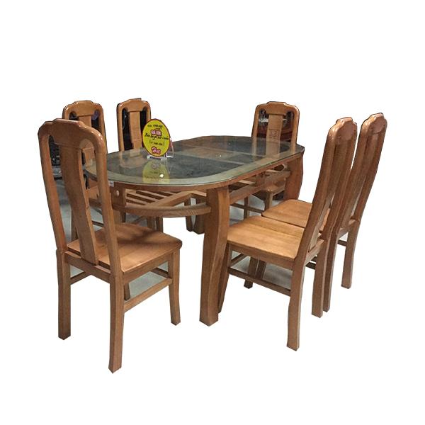 Bộ bàn ăn bầu dục 200BBA04
