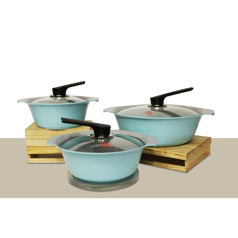 Bộ nồi Hàn Quốc Ilo Ceramic IL06IH-3pcs