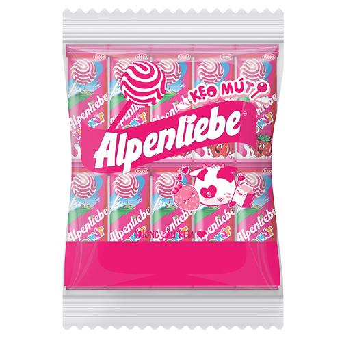 Kẹo mút Alpenliebe hương dâu 475g (50 que * 9.5g)