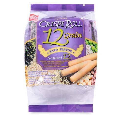 Bánh dinh dưỡng ngũ cốc vị khoai môn Crispi Roll 180g