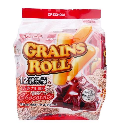 Bánh xốp 12 loại hạt Grains vị socola 160g