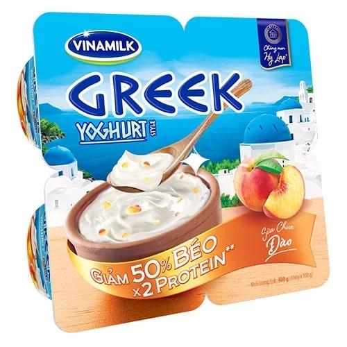 Sữa chua ăn Vinamilk Greek Style đào 4h/vỉ