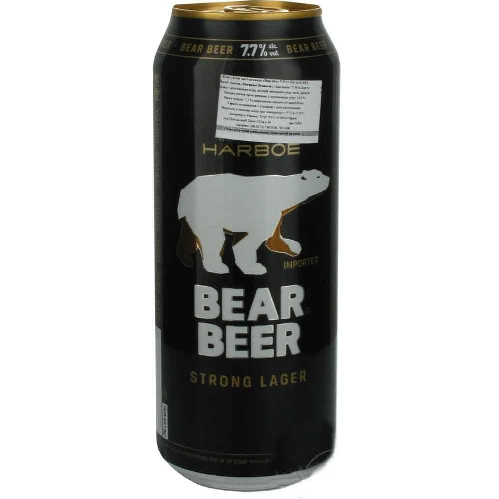 Bia Harboe Strong Gấu Đen 7.7% 500ml