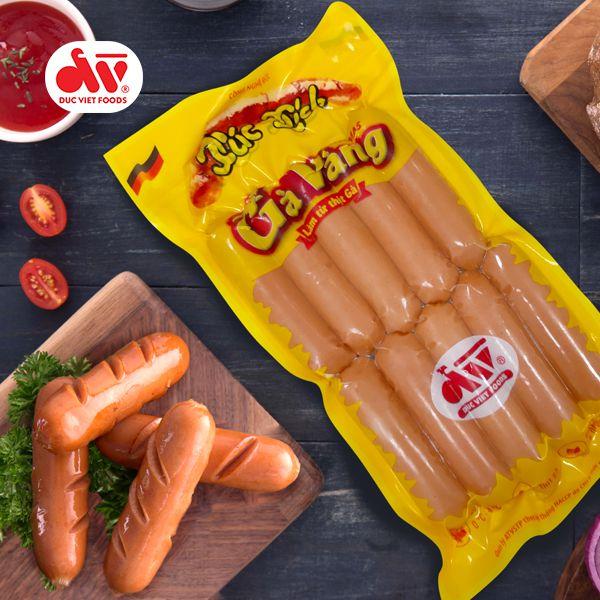 Xúc xích gà vàng Đức Việt 500g