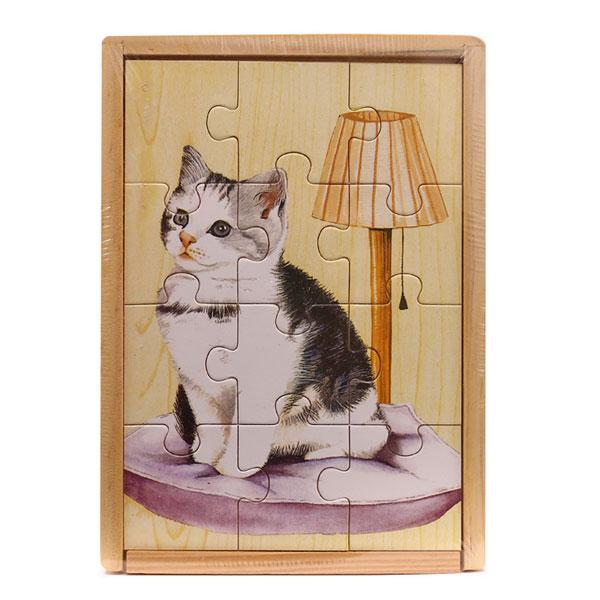 Bảng ghép hình động vật bằng gỗ HJD93197