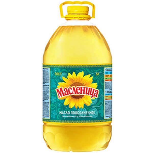 Dầu hướng dương tinh luyện khử mùi Maslenitsa 5L