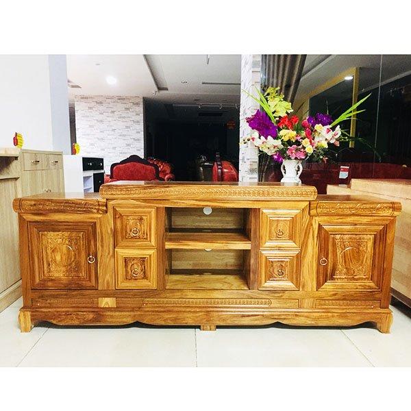 Kệ tivi-Kệ gỗ hương xám 206K15