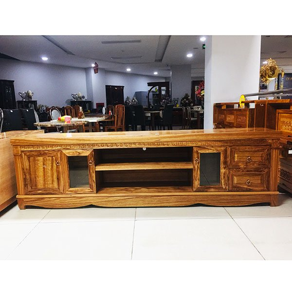 Kệ tivi-Kệ gỗ hương xám 206K22