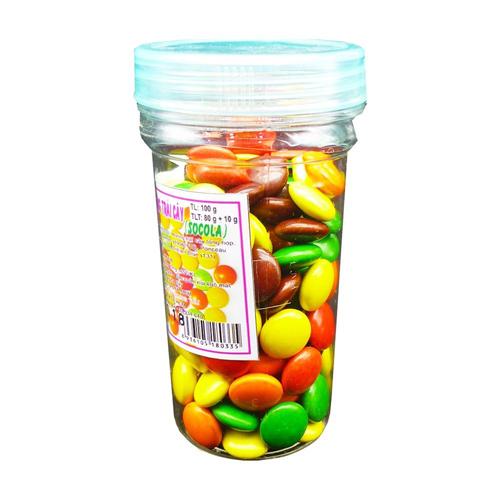 Kẹo hương trái cây socola 100g