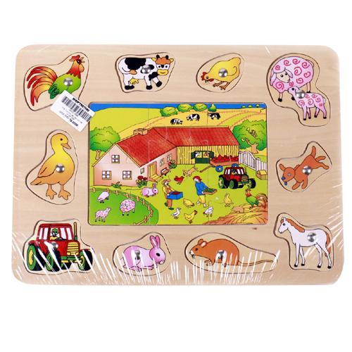 Toptoys bảng câu ghép hình nông trại HJ98169A