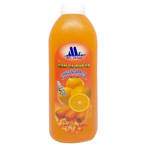 Nước cam cà rốt ép Mr Drink 600ml