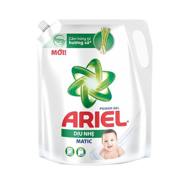 Nước giặt ariel dịu nhẹ hương sả  túi 2 lít