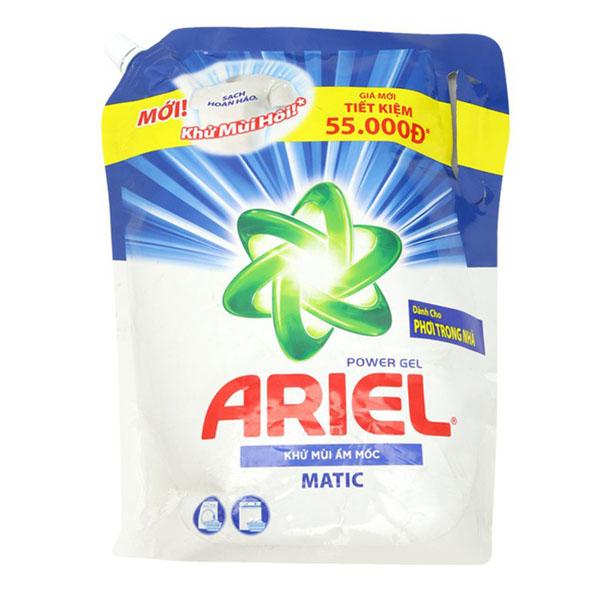 Nước giặt Ariel khử mùi ẩm mốc túi 2 lít