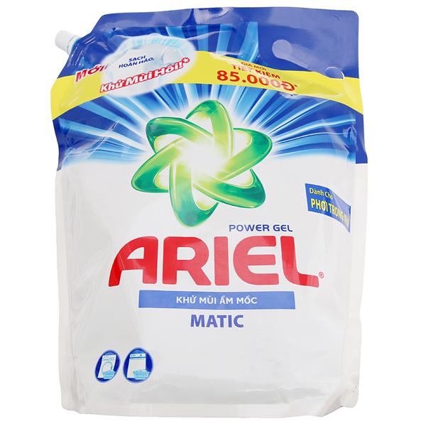 Nước giặt Ariel khử mùi ẩm mốc túi 3.1 lít
