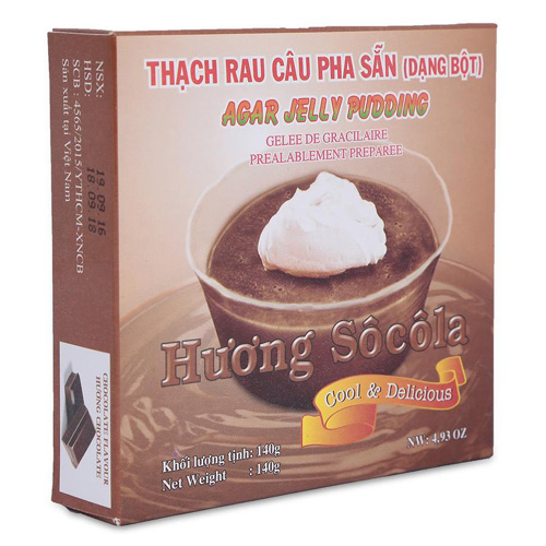 Thạch rau câu pha sẵn hương chocola  & sữa 200g