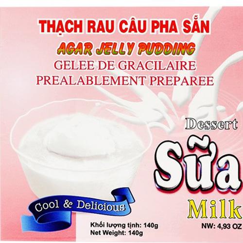 Bột rau câu 140g sữa