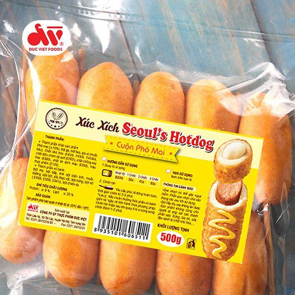 Xúc xích Seoul's Hotdog cuộn phô mai 500g