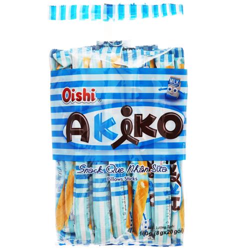 Bánh que Akiko nhân sữa 160g