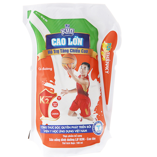 Sữa chua uống Kun hương dâu 110ml (24 túi/thùng)