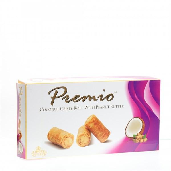 Bánh ống dừa cuộn bơ đậu phộng Premio 100g