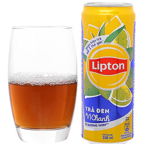 Trà Lipton đen vị chanh 330ml