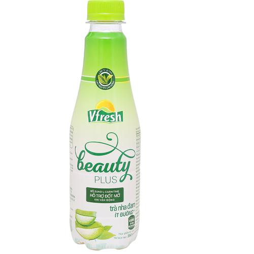 Trà nha đam ít đường Vfresh Beauty 350ml