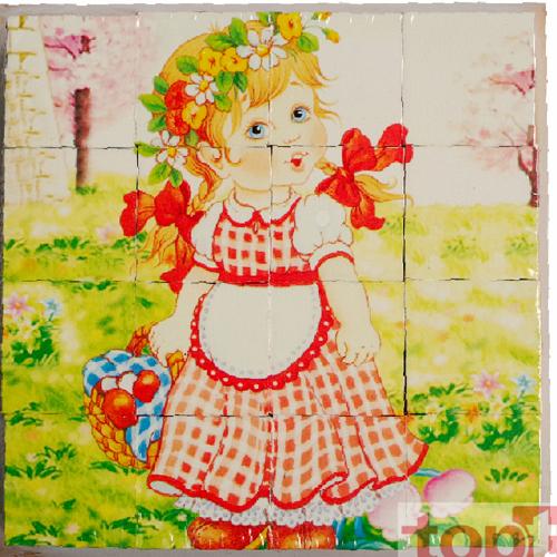 Khối xếp hình 6 tranh bé gái HJD93921