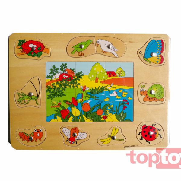 Trò chơi Bảng câu côn trùng gỗ HJ98171A
