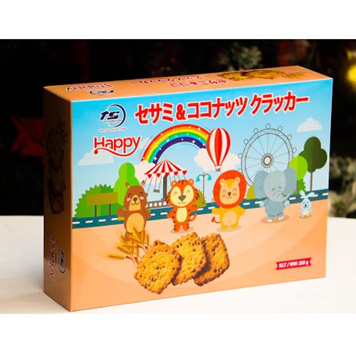 Bánh mặn vừng dừa Hộp giấy 225g