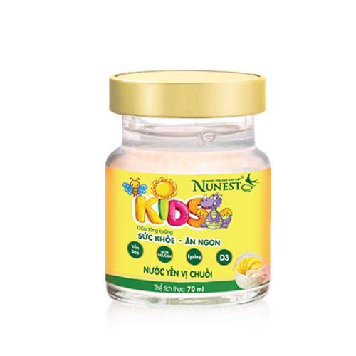 Nước yến sào Nunest Kid vị chuối cho trẻ em 70ml