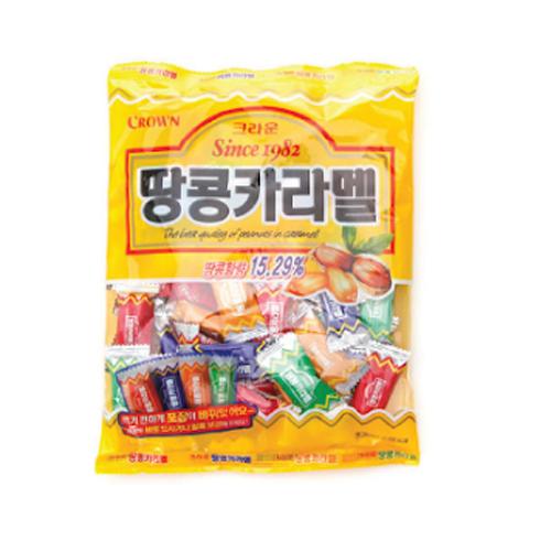 Kẹo Crown đậu phộng Caramel 120g