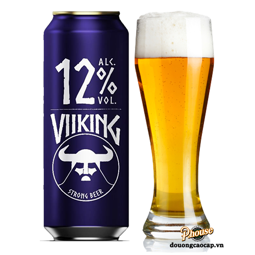Bia Viiking Strong Beer 12% – Lon 500ml