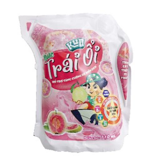 Nước trái cây Kun hương ổi túi 110ml (24 túi/thùng)